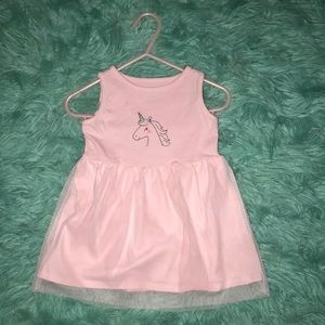Carter's   12 M   Pink unicorn dress   Gently used